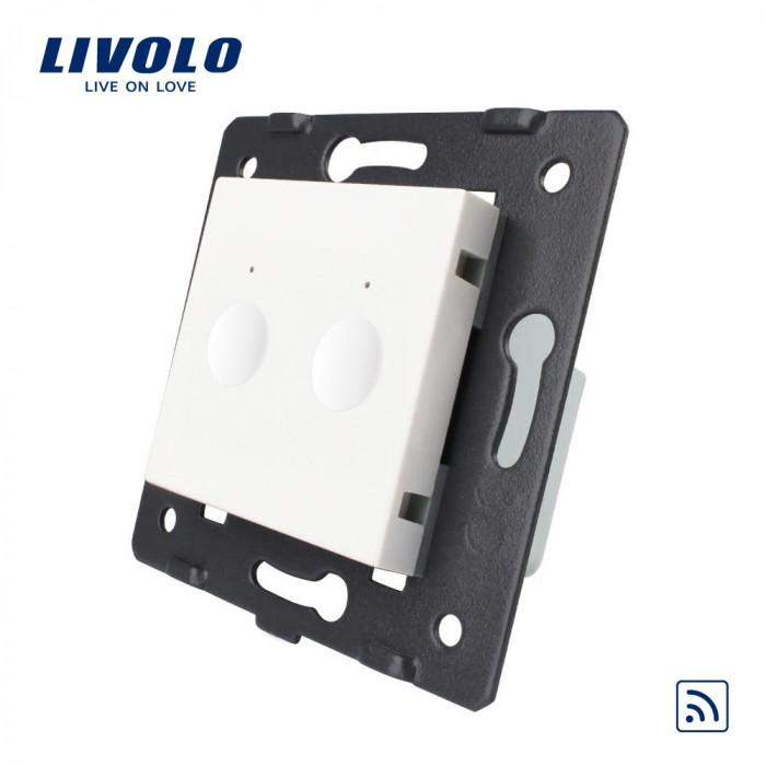Modul intrerupator dublu wireless cu touch LIVOLO, Serie noua, Alb