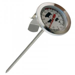 Termometru alimentar, pentru carne, analogic, metalic, cu tija