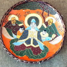 Farfurie antica fainta portelan CHINA - JAPONIA lucrata manual - farfurie perete