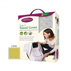 Husa de calatorie 3 in 1 lime Clevamama for Your BabyKids
