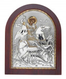 Icoana Argintata Sfantul Gheorghe 11x13cm Cod Produs 2728