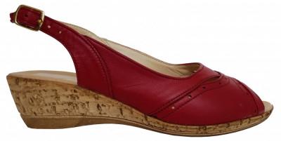 Sandale dama cu talpa ortopedica joasa Ninna Art 2 rosu foto
