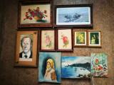 Tablouri pictate vechi. Tablou pictat panza,portrete,etc.