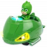 Masina Eroi in Pijama Mission Racer Gekko cu Figurina