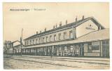 5153 - MARAMURES SIGHET, Railway Station, Romania - old postcard - unused