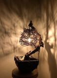 """Lampa/Veioza de interior artizanala unicat """"Cocon de Lumina"""""""