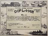 Diploma 1941 Scoala de ofiteri de artilerie Pitesti - Carol I