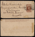 Great Britain 1893 Postal stationery Wrapper Cardiff to Brussels DB.196