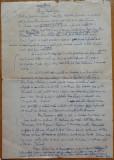 Manuscris Victor Eftimiu , 3 pagini , Elena Teodorescu , aroman , mason