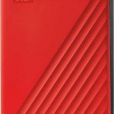 Hard disk extern WDC My Passport 4TB USB 3.2 2.5 inch Red