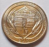 25 cents / quarter 2015 SUA, Nebraska, Homestead, litera D, America de Nord