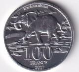 Katanga 100 Francs 2017 - (Elefant) Aluminiu, 32 mm, UNC !!!, Africa