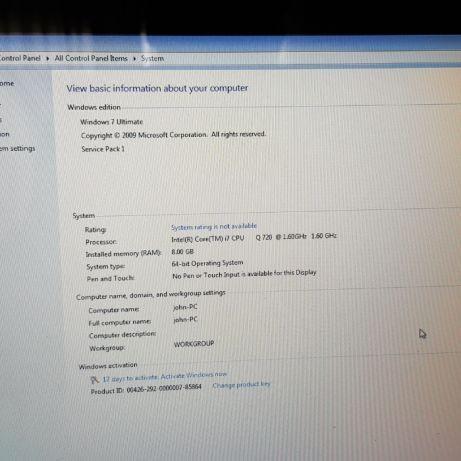 laptop hp envy 17 Laptop i7 hard 1T hp envy 17 procesor i7 8gb ram