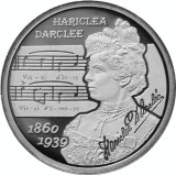 Moneda Romania 10 Lei 2010 - Proof ( 150 ani - Hariclea Darclee )