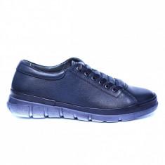 Pantofi dama din piele naturala, Snk, Goretti, Albastru, 39 EU