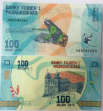 MADAGASCAR 100 ariary ND (2017) UNC