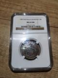 Romania - 5 bani 1867 Watt, gradata MS 65 de NGC, piesa rara, de colectie!