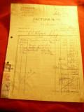 Factura cu Antet Firma Cosmos - Birou Tehnic Emil Herkle 1943 Bucuresti