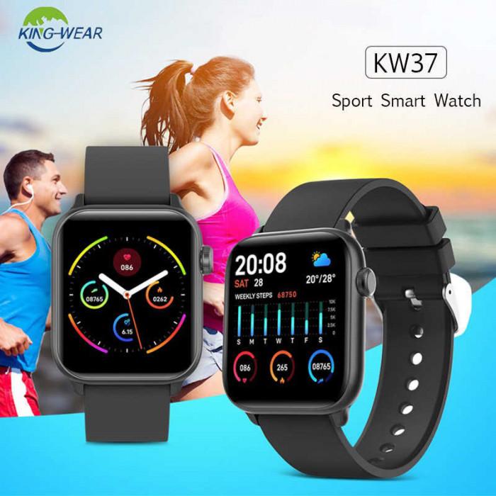 Smartwatch KW37 PRO KINGWEAR ceas 5 2020 presiune monitorizare ritm cardiac OLED