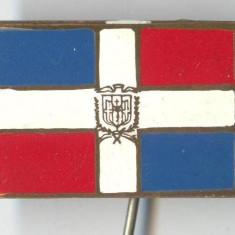 Insigna Heraldica - Steag - REPUBLICA DOMINICANA - email la cald - SUPERBA