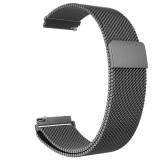 Curea tip Milanese Loop compatibila cu Huawei Watch GT, Telescoape QR, 22mm, Space Gray