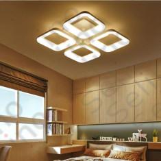 Lustra led Elvira Square Design SLC cu telecomanda Lumina calda neutra rece si intensitate reglabila