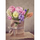 Cumpara ieftin Tablou Canvas Hyacinths and Ranunculus Flowers, CanvasGift
