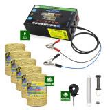 Pachet Gard Electric 2,5J putere + 5000m Fir cu 3 lițe