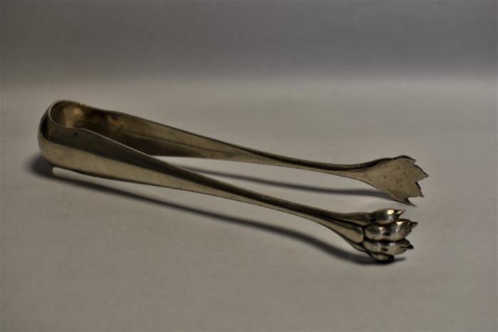 Cleste argintat pt gheata zahar cubic Christofle Franta secolul XIX  gheara leu