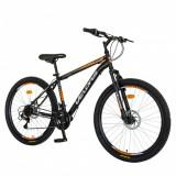 Bicicleta MTB-HT 26 inchVelors Poseidon CSV2609A negruportocaliu, Velors