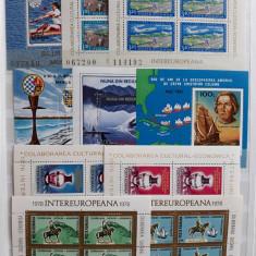 a. Lot timbre neuzate Romania - Colite, serii, blocuri - opt foto