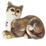 Pisica multicolora din rasina 17 x 15cm
