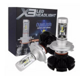 Set 2 LED-uri auto H1, X3 Premium, 50W / 12000 lumeni , alb pur 6000k, Universal