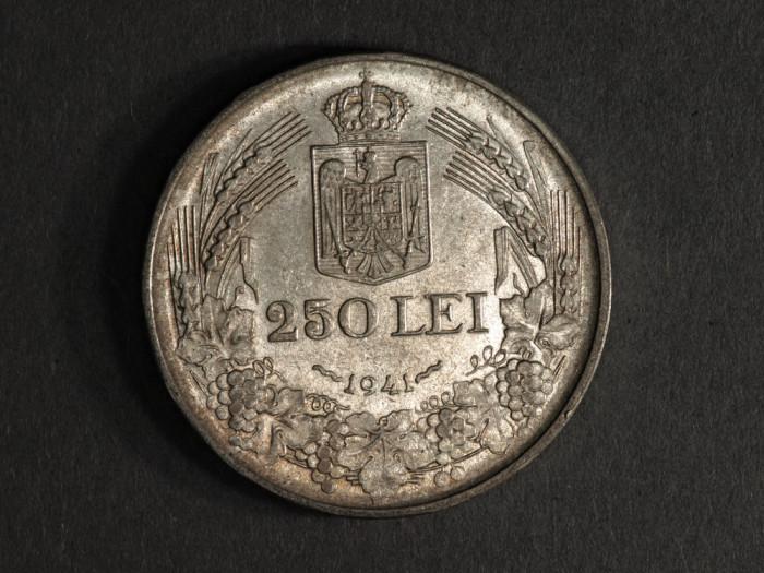 ROMANIA 250 LEI 1941 NSD ARGINT