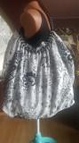 GEANTA/SACOSA XXL BUMBAC CORDON DIN MARGELE 60/40 CM, Geanta sacosa, Alb