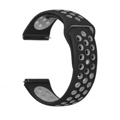 Curea silicon Tech-Protect Softband Apple Watch 1/2/3/4 (42/44mm) Black/Gray