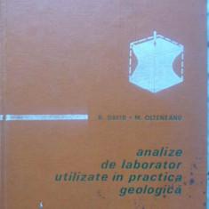 ANALIZE DE LABORATOR UTILIZATE IN PRACTICA GEOLOGICA - B. DAVID, M. OLTENEANU