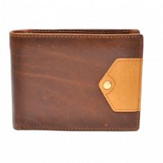 Portofel barbati din piele naturala - de culoare maro - CH1105M