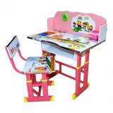Birou + scaunel, reglabile/scoala/desene/MDF+metal