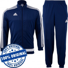 Trening Adidas Tiro pentru barbati - trening original - pantaloni conici, S, Albastru, Poliester