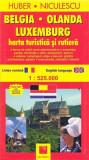Belgia, Olanda, Luxemburg - Harta turistica si rutiera |