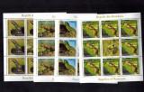 Romania 2011 4 Minicoli 8 timbre + vinieta MNH Reptile Fauna Serie completa, Nestampilat
