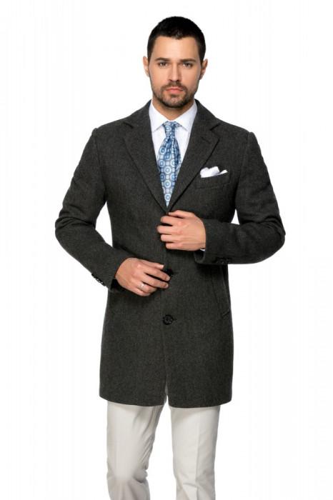 Palton barbati business slim gri B157