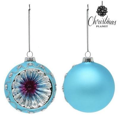 Globuri de Craciun Christmas Planet 1693 8 cm (2 uds) Geam Albastru foto