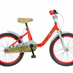 Bicicleta copii FIVE Jynx 20 cadru otel culoare rosu alb varsta 7 10 ani