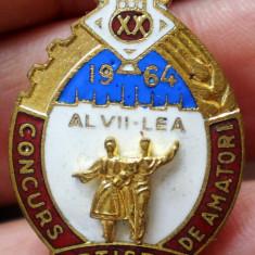 I.509 INSIGNA ROMANIA RPR AL VII-LEA CONCURS ARTISTIC DE AMATORI 1964 email