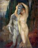 Tablou autentic Vajda Zsigmond, Nud, Ulei, Impresionism