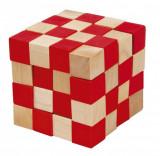 Joc logic IQ din lemn Anaconda - Demonteaza si monteaza puzzle-u l-1 cm