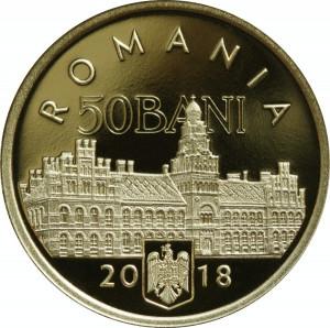 50 BANI PROOF 2018 - 100 de ani de la Unirea Bucovinei cu România