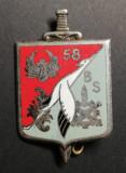 Insigna Regimentala Batalionul 58 Servicii Franța Drago G 1876